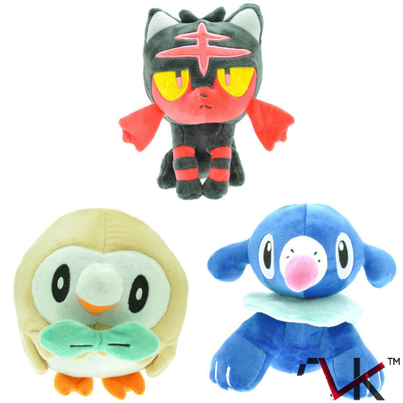 18cm 3 colour Pikachu Pocket Doll Rowlet Litten Toys Plush Stuffed Animals Soft Stuffed Baby Toys
