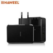 HAWEEL USB-PD + Dual USB Ports Travel Fast Charger EU Plug UK Plug For iPhone, Galaxy, Sony, HTC etc