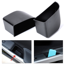 CITALL New 2Pcs Black Rear Door Armrest Secondary Storage Box Container Holder For Honda Accord  2008 2009 2010 2011 2012