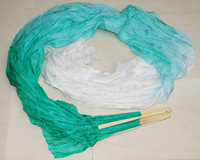 2016 Female High Quality Chinese Pair Of Belly Dancing Fans Cheap Silk Veils Dance Fans Hot