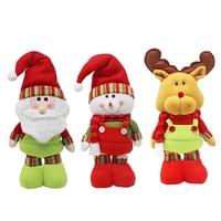 Christmas Santa Claus/Snowman/Elk Dolls Standing Navidad Figurine Christmas tree Ornaments Kids Christmas Gifts Toy P20