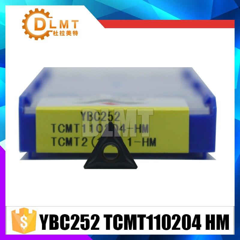 10PCS/SET YBC252 TCMT110204 HM Tungsten Carbide Cutting Tools Insert Cemented Carbide Cutting Tools Turning Insert