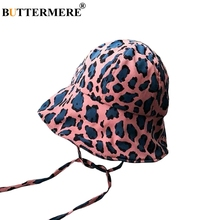 BUTTERMERE Ladies Bucket Hats Cotton Leopard Pattern Fishing For Women Summer Pink Adjustable Fashion Female Cap