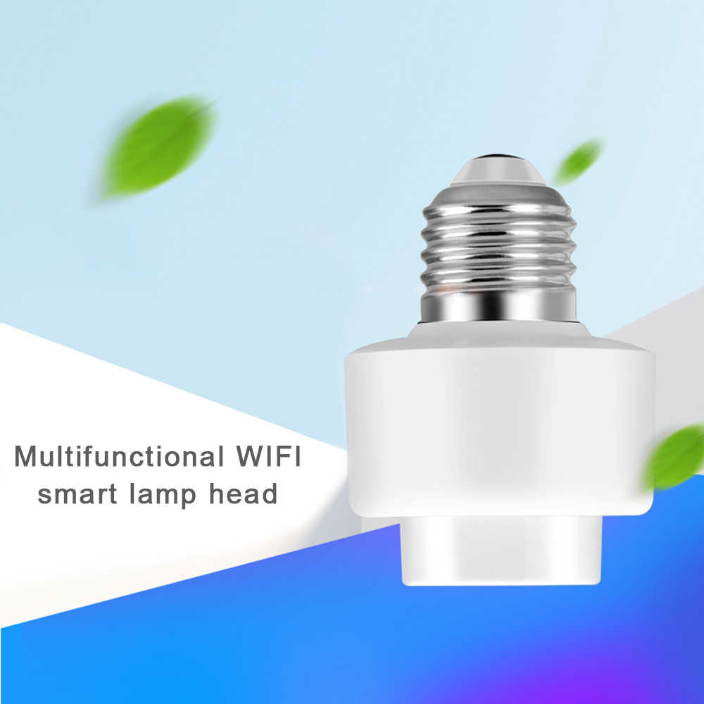 Wifi phone switch timing voice control LED smart light head amp Light Screw Bulb Holder Cap Support Socket E27 Home Use