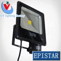 50 шт. Светодиодные прожекторы 10w20w30w50w ИК зондирования индукционного датчика движения PIR детектив проектор входная дверь Открытый лампы