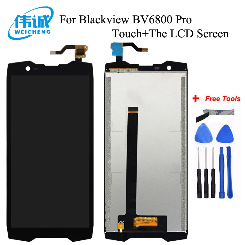 WEICHENG For Blackview BV6800 Pro LCD Display + Touch Screen 100% Screen Digitizer Assembly+Tools