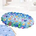 39*70 cm Azul dos desenhos animados tapetes de Banho dos desenhos animados shell banheiro ventosa para o bebê e criança tapetes mat mat banheira animal lindo vaso sanitário esteiras