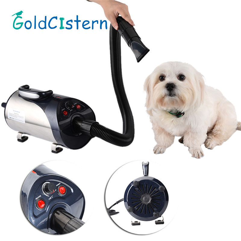 2800W Quiet Hair Dryer With Nozzle for Pets Dog Cat Pet Force Dryer Heater EU/UK/US 1PCS 5 inch hair comb for pets cats
