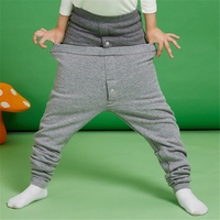 Kid Fleece Lined Thick Leggings Toddler Soft Cotton Sports Trousers Boys Velvet Warm Solid Underwear Leggings AA60504