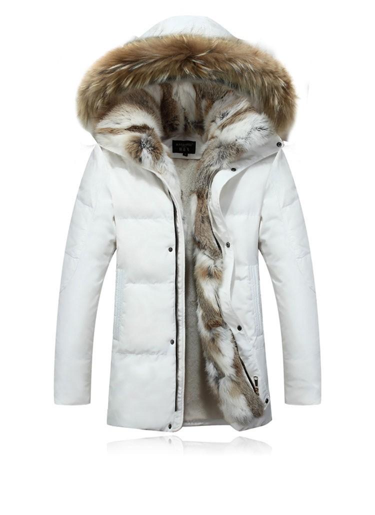 Winter Down Jacket Men Fur Parka Fashion Casual Thicken Warm Fur collar Hooded Men Women jacket&coat couple Down Jacket S-5XL (8)