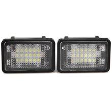 Vehicle External Lights Car Auto License Plate Lamp with 12V 24 LEDs Suitable for Benz GLK350 GLK X204 – 2pcs