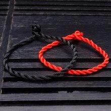 1 шт. модная красная линия Lucky красная цепочка веревка ручной работы и звенья браслеты для женщин мужчин ювелирные изделия для влюбленных пар