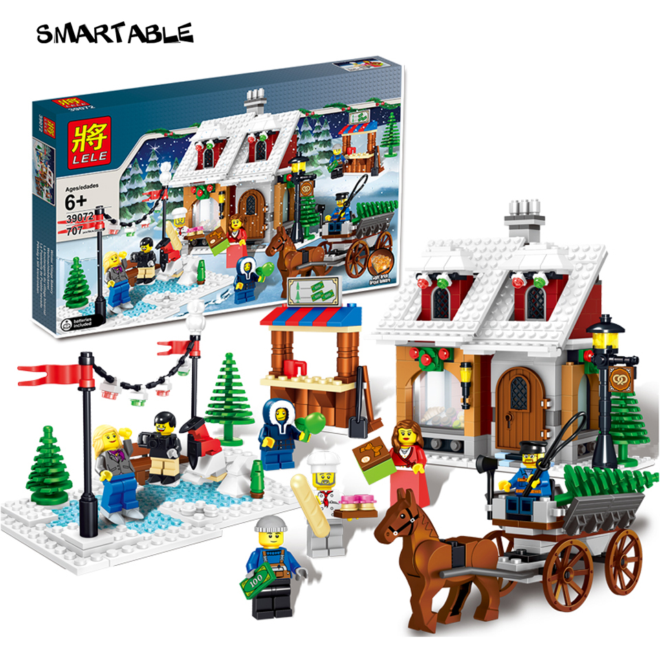 Smartable Christmas holiday Building Block Bricks educational creative toys set Compatible legoeds figure best gift 707pcs/set zxs sucker toys educational oogi figure 2pcs set bule
