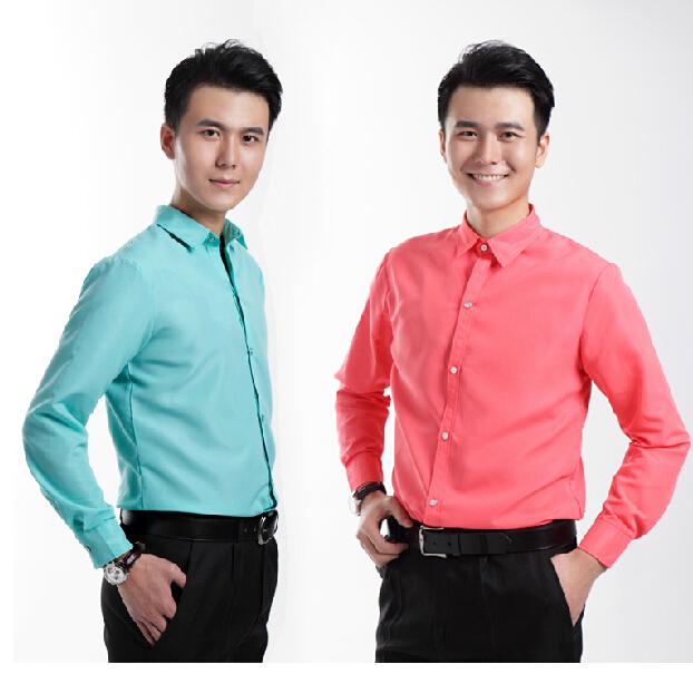 2015 estudio fotografió hombres camisa color con mangas largas de acogida Mc estudio Bar etapa coro de Ultra bajo costo de promoción camisas