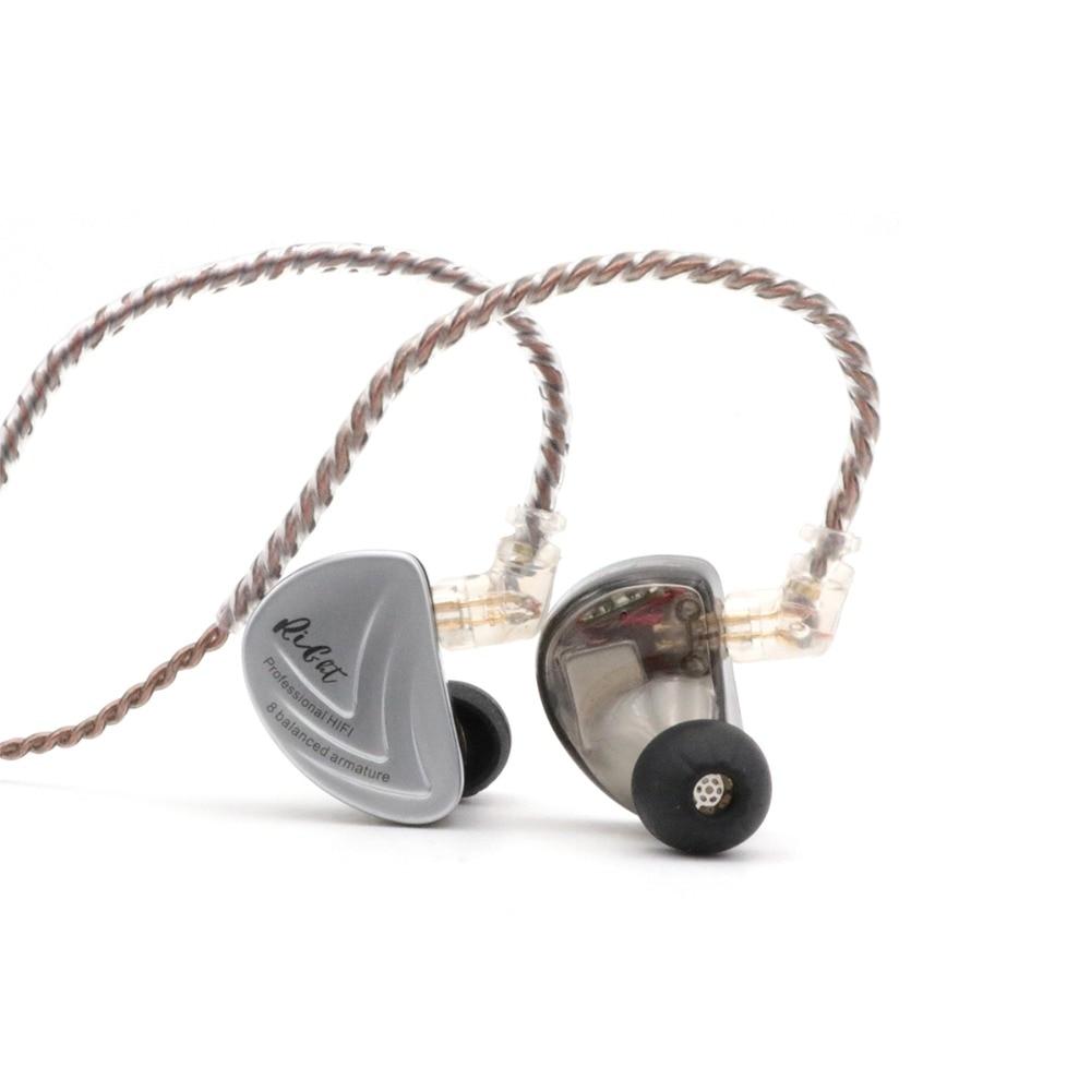 Kz as16 8ba 8 armadura balanceada driver iem estéreo de alta fidelidade fone de ouvido fone de ouvido fone de ouvido de alta resolução com 0.75mm 2 pinos cabo