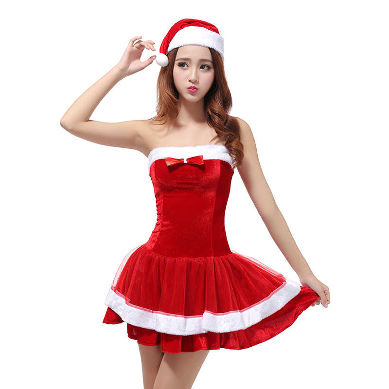 a1bb787bce71 UPHYD Santa Claus Costume For Teen Girls Sexy Adult Women Christmas  Costumes New Year Fancy Dresses