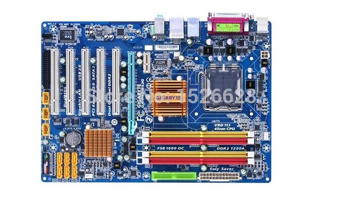 Carte mère de bureau d'origine pour gigabyte GA-P43-ES3G DDR2 LGA 775 P43-ES3G conseils P43 Gigabit Ethernet motherboar livraison gratuite