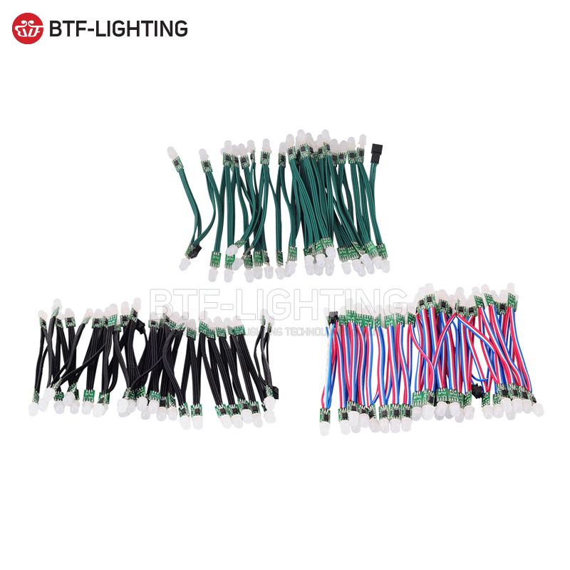 50 pz/100 pz 9mm WS2811 2811 Pixel String Indirizzabile Modulo Luce Modulo LED non-impermeabile DC5V/DC12V