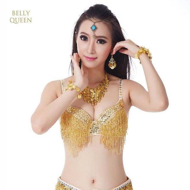 5ab2319ba8 belly dance bra tops bras for women bellydance costumes sexy sequins beads belly  dance tassel senior women belly dancing