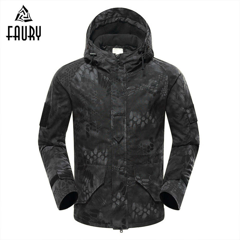 Tactical Military Uniform Men Waterproof Polar Fleece Coat Army Clothes Camouflage Windbreaker Autumn Winter Thickening