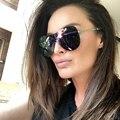 New Women Siamese Grid Pattern Sunglasses Brand Designer Fashion Men Personality Rimless Mirror Coating UV400