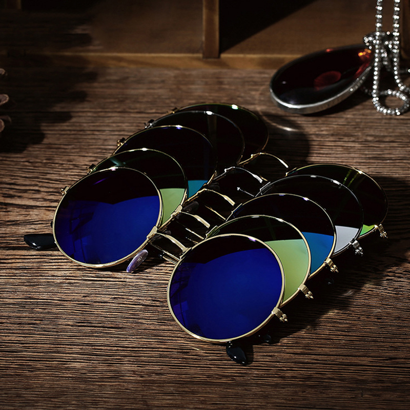 2019 Summer Men Women Vintage Retro Round Sunglasses Metal Frame Eyewear Fashion Party Glasses Spectacles Driver Goggles