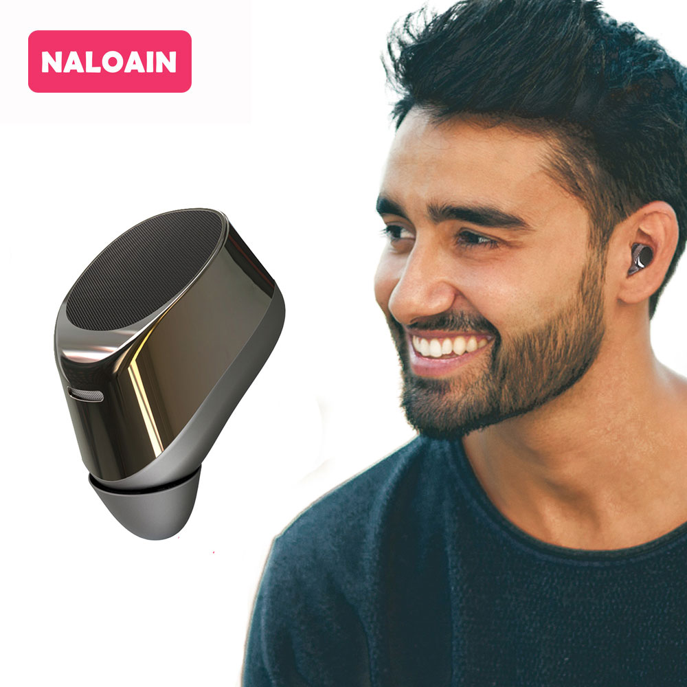 NALOAIN Wireless Earbuds Bluetooth Earphone Single Mini Invisible In-ear Headset with Mic Handsfree for Iphone Android Phone bluetooth car kit i7 headphone in ear car bluetooth aux earphone single earbuds headset with mic for iphone mobile phone earpud