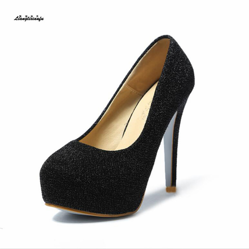 Plus:35-43 44 feminino club shoes sexy 15cm Thin Heels shoes women platform Escarpins zapatos mujer wedding/dress Stiletto pumpsPlus:35-43 44 feminino club shoes sexy 15cm Thin Heels shoes women platform Escarpins zapatos mujer wedding/dress Stiletto pumps