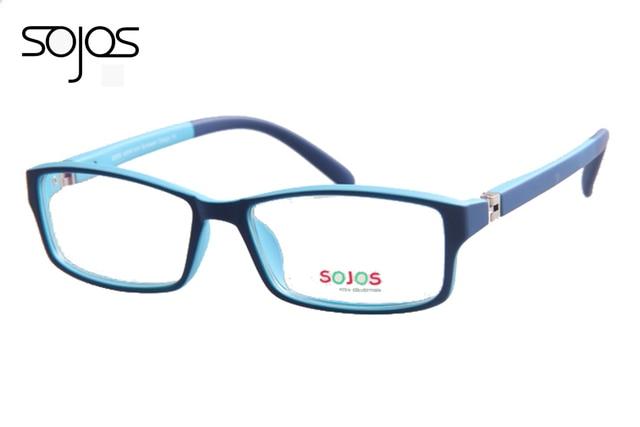 Свет двойной цвет силиконовые дети близорукость TR90 материал дети мальчики девочки видения оптических очков 1151