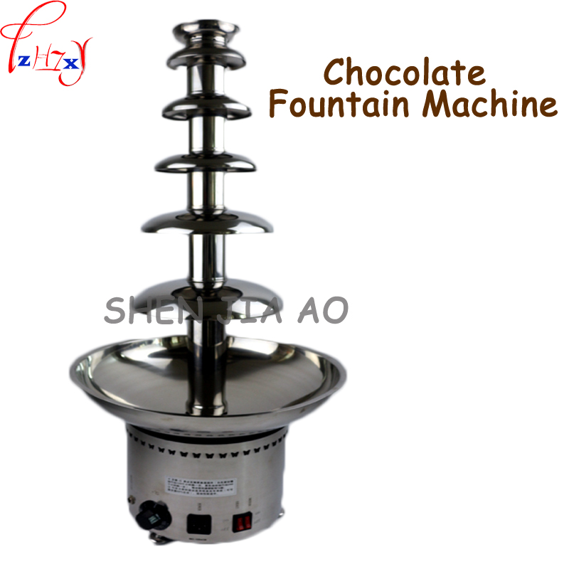 Commercial Stainless Steel 6 Layer Chocolate Fountain Machine DIY Chocolate Hot Pot Chocolate Flying Machine 110/220V 1PC