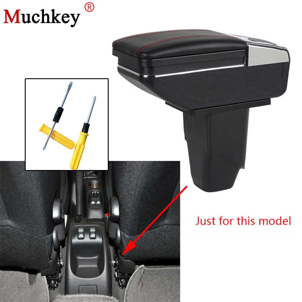 Armrest box For PEUGEOT 206 207 2006-2013 central Console Arm Store content box cup holder ashtray car styling accessories parts pu for citroen c elysee peugeot 301 2014 2016 armrest central store content storage box with cup holder ashtray accessories