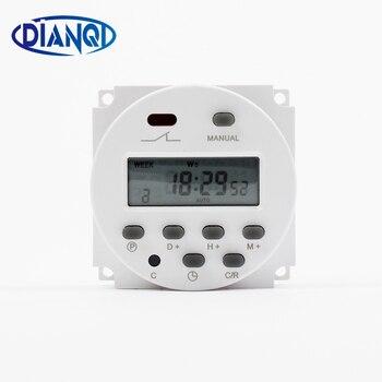 Cn101a 220 v 230 v 240 v digital lcd power timer semanal 7 dias programável interruptor de tempo relé temporizador 10a cn101 mini relógio luz temporizador
