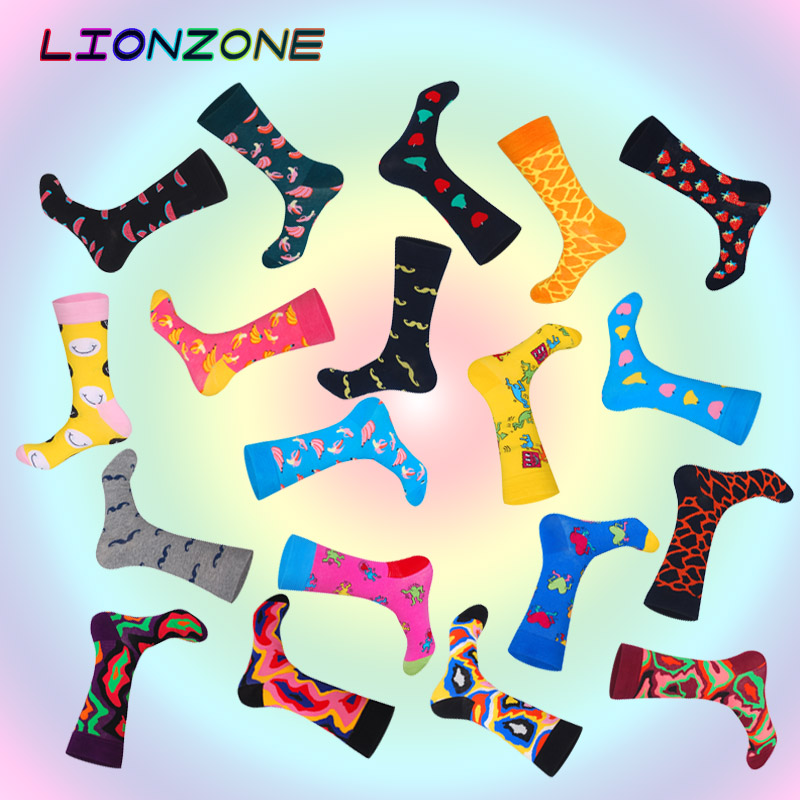Brand Newly Neutral Socks Funny Men&Women Fruits Lava Mustache Designer High Quality Combed Cotton Happys Socks Fashion gay