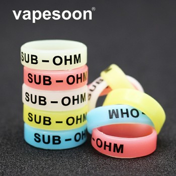 50pcs Luminous Silicone Rings Anti-Slip Bands For Vape Tank Mods E-Cigarette Atomizers 24mm*7mm