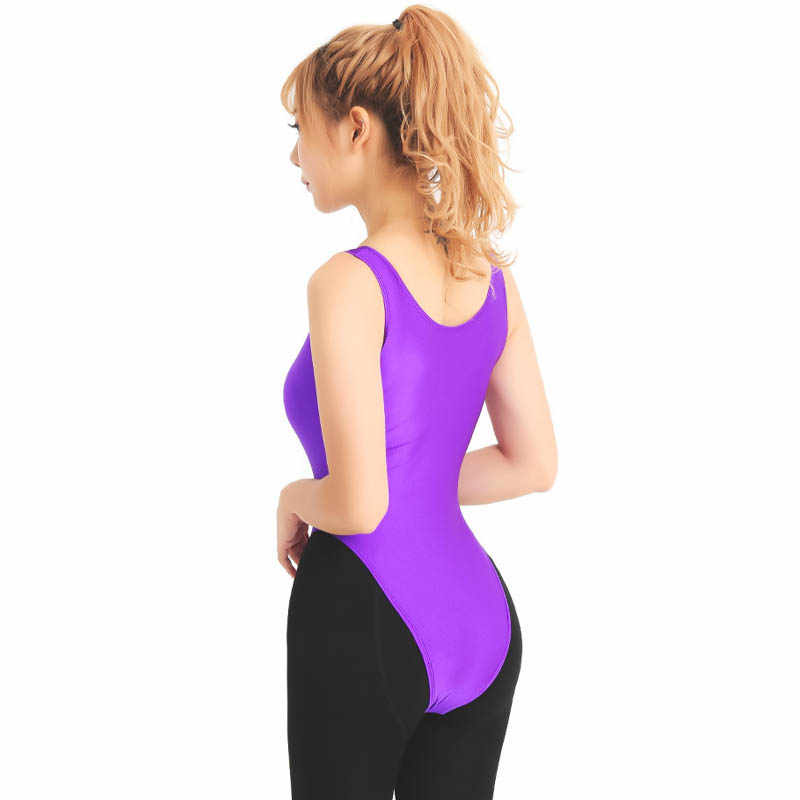 a44bf791f96f Womans Shebin Clothing Lycra Tank Tops Ballet Dance Wear Tanga Unitard  Gymnastics Collant Female Thong Bodysuit Dance High Cut