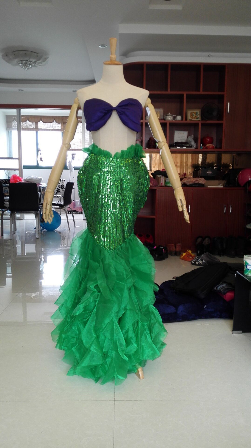 2016 The Little Mermaid Ariel Cosplay Costume