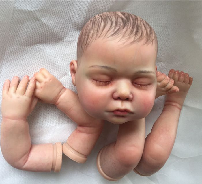 Limited Edition Reborn Doll Kit for 20/22 Inch Silicone Reborn Doll DIY Doll Accessories Body Parts with Pattern enterprise asset management for dummies custom logica limited edition