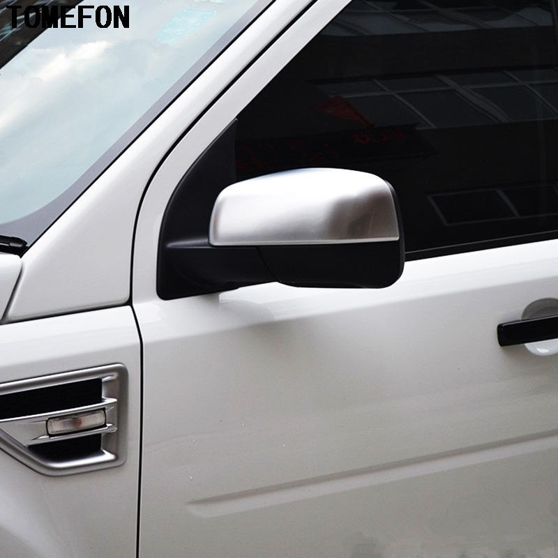 TOMEFON Car Styling ABS Chrome Side Wing Fender Rearview Door Mirror Trim For Land Rover Freelander 2 LR2 2012 2013 2014 2015