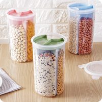 New Storage Box Kitchen Transparent Tank Grain Storage Multi Function Dry Food Eco Friendly Modern Glossy