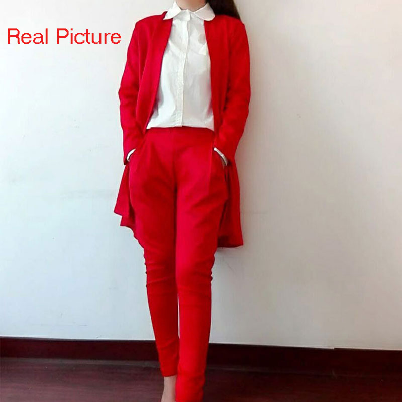 db319207d7a 2XL Plus Size Spring Style Elegant Women Pants Suits Women Business Suits  Formal Office Suits Work Blazer+Trouser Suit Feminino-in Pant Suits from  Women s ...