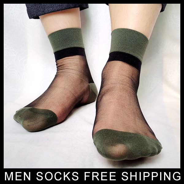 Mens TNT Socks Patchwork Glitter High quality Sheer Thin See Through New design Sexy Male Socks For Gay Collection