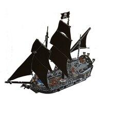 804 шт. строительные блоки Пираты Карибского моря Черная жемчужина корабль модель DIY образования кирпичи игрушки legoinglys 4184