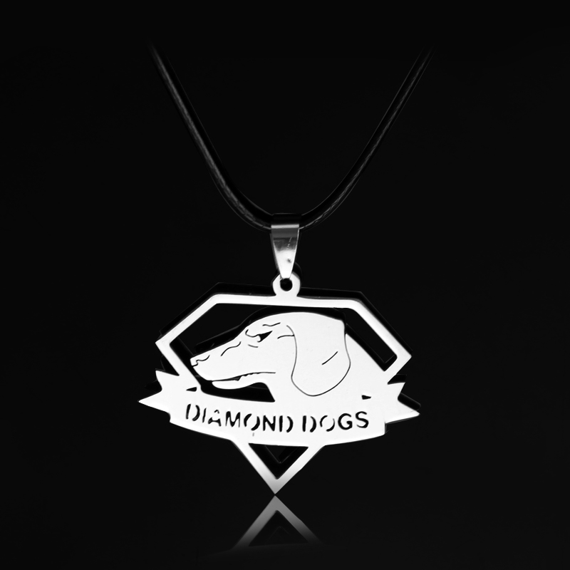 Metal Gear Solid 5 Necklace Dogs Logo Stainless Steel Pendant Necklace Cosplay