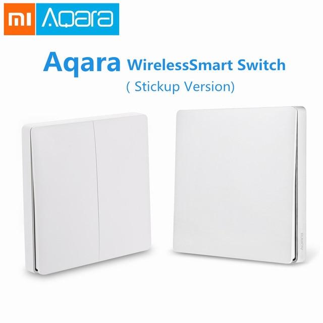 Commutateur de lumière intelligent d'origine Xiao mi Aqara Version sans fil simple Double clé mi jia mi maison Smartphone APP télécommande