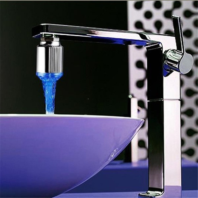 LED Faucet Light Water sensor Glow Shower Aerator 7 colors changing with temperature wit ...