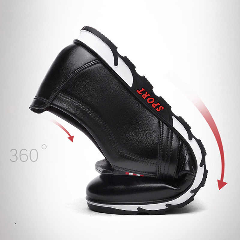 LAKESHI yeni deri ayakkabı erkekler rahat ayakkabılar 2021 moda erkek loafer'lar sonbahar yumuşak sürüş ayakkabısı erkek el yapımı Chaussure Homme