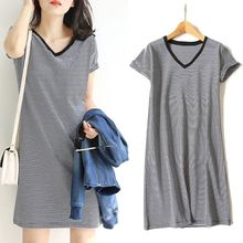 M-3XL, большие размеры, весна-лето, платье большого размера, платья в черно-белую полоску размера плюс, женская одежда с поясом