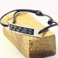 Latitud longitud Bar Pulsera de Plata 925 al por mayor con la Cadena de la Cuerda Personalizado Coordinar Grabado Personalizado Joyería de Ubicación