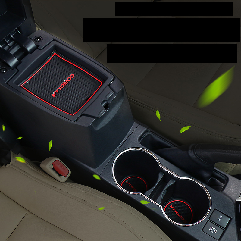 lsrtw2017 car interior anti-slip mat for toyota corolla 2013 2014 2015 2016 2017 2018 E170