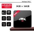 H96 pro 3 GB 16 GB Android 6.0 Malvavisco TV Box Amlogic S912 BT4.0 Octa Core Dual WIFI 2.4G/5.8G 1000 M Ethernet 4 K Netflix IPTV